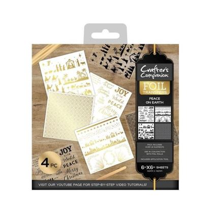 Crafters Companion Foil Transfers - Peace on Earth
