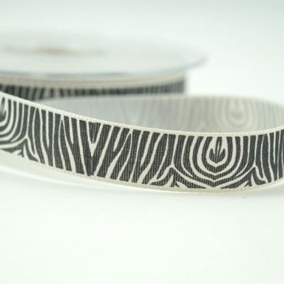 Picture of Pumice Carnation Zebra Ribbon 15mm