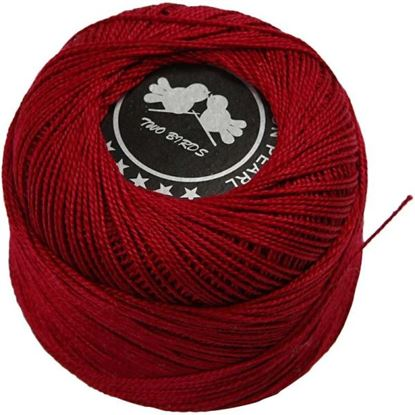 Picture of Mercerised Cotton Yarn 20g Antique Red