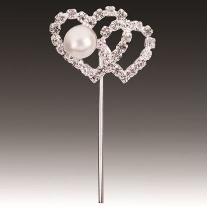 Picture of Diamante Pick Double Heart