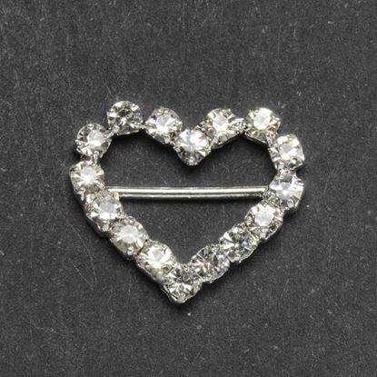 Picture of Diamante Ribbon Buckle Heart