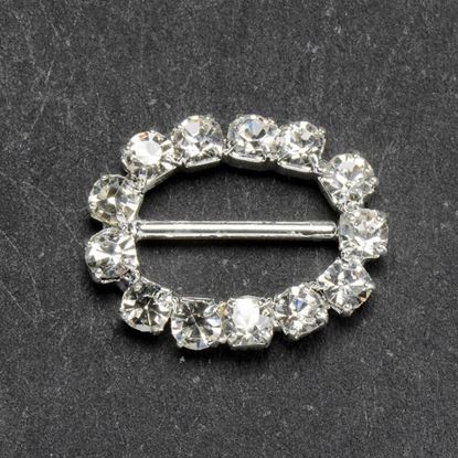 Picture of Diamante Ribbon Buckle Oval