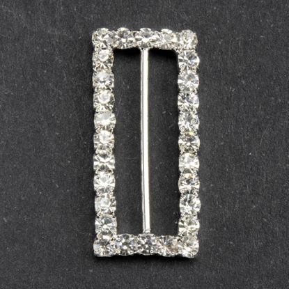 Picture of Diamante Ribbon Buckle Rectangle
