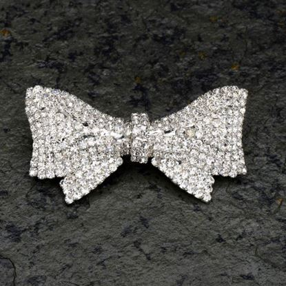 Picture of Diamante Bow Brooch 60x35mm