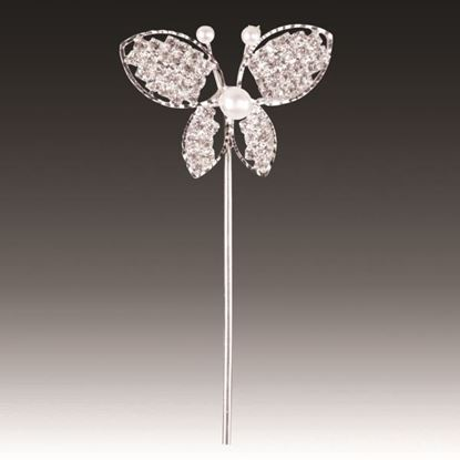 Picture of Diamante & Pearl Butterfly on  Stem