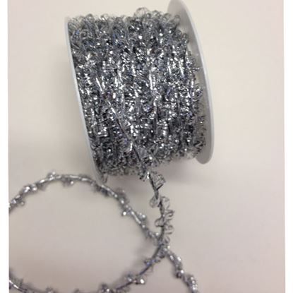Picture of Fancy Elasticated Tinsel Cord Silver