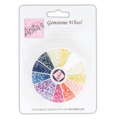 Picture of Gemstone Wheel Pearls Assorted