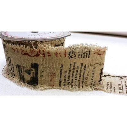 Picture of Type Writer Printed Burlap 50mm