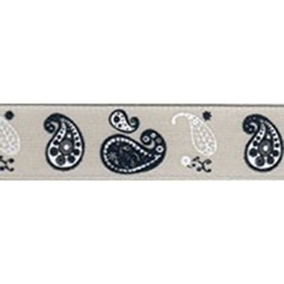 Picture of Pumice Paisley Ribbon 15mm