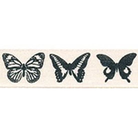 Picture of Pumice Dancing Butterfly Ribbon 15mm