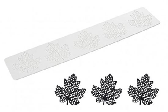 Picture of Silikomart Wonder Cakes Lace Mat - Maple Leaf/Ornamental