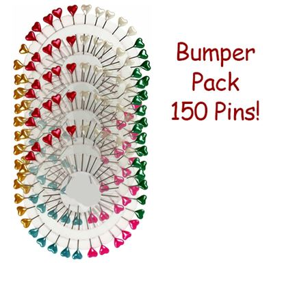 Picture of Decorative Heart Pins Assorted Pk150