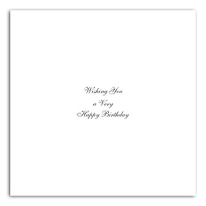 "Picture of Happy Birthday Inserts 8"" x 8"""