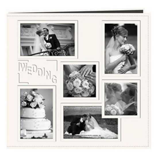 "Picture of 12"" x 12""  Wedding Album with Windows"