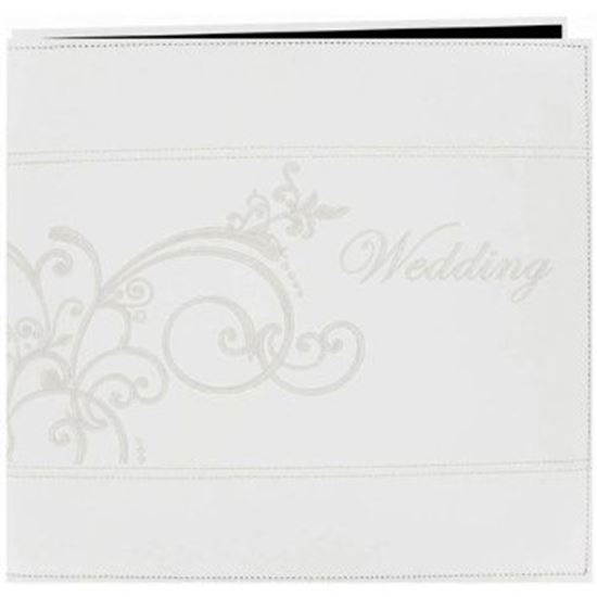 "Picture of 12"" x 12""  Wedding Album Scroll Ivory"
