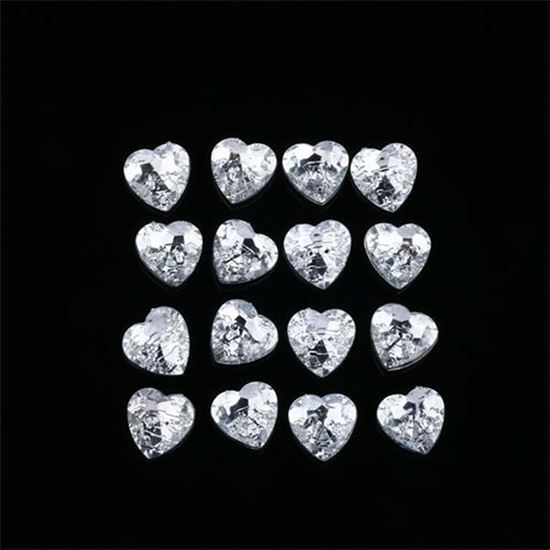 Picture of Crystal Heart Buttons 15mm Pk10