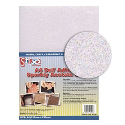 Picture of Sparkly Acetate Self Adhesive A4