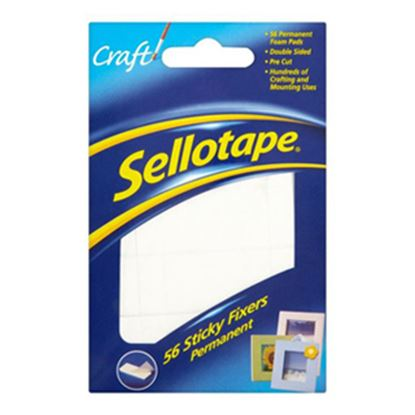 Picture of Sellotape Permanent Sticky Fixers Pk56