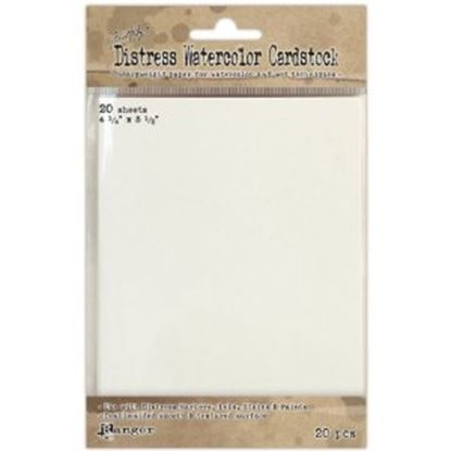 "Picture of Ranger Distress Watercolor Cardstock 4.25"" x 5.5"""