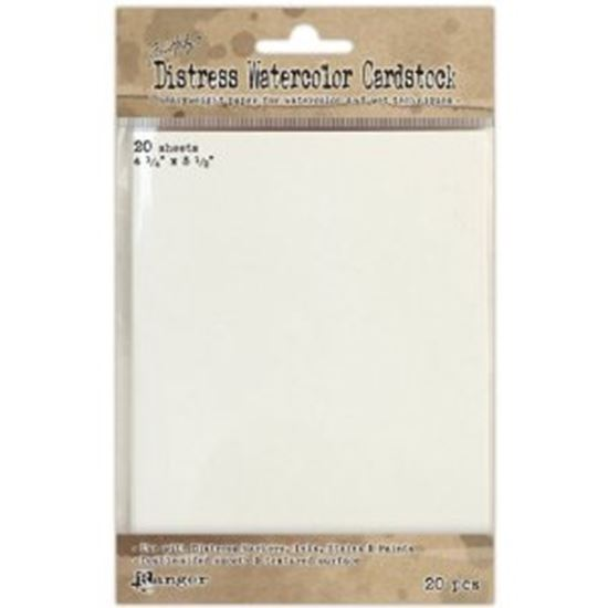 """Picture of Ranger Distress Watercolor Cardstock 4.25"""" x 5.5"""""""