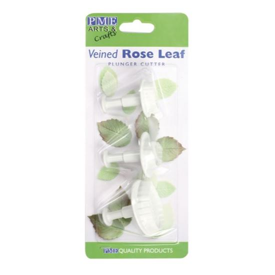 Picture of PME Veined Rose Leaf Plunger Cutter Set