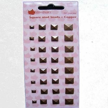 Picture of Woodware Square Stud Brads Copper