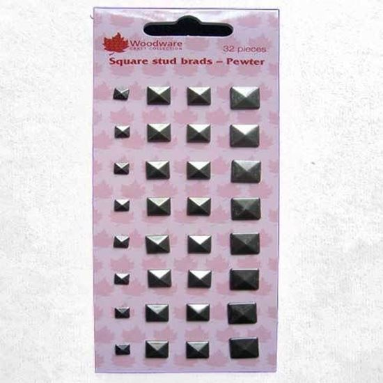 Picture of Woodware Square Stud Brads Pewter