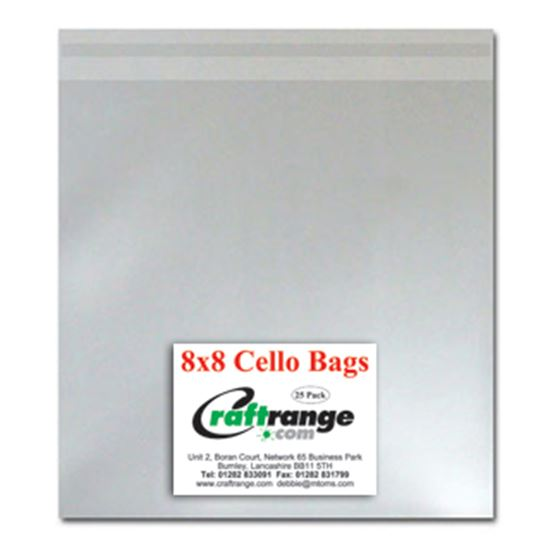 "Picture of Cello Bags 8"" x 8"" Pk 25"