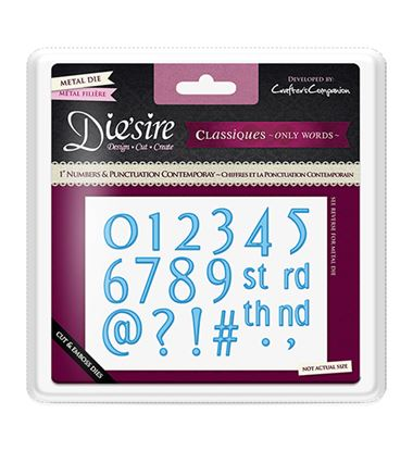 "Picture of Die'sire Classique 1"" Numbers & Punctuation Dies - Contemporary"