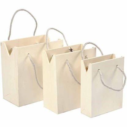 Picture of Wooden Bags with Handles