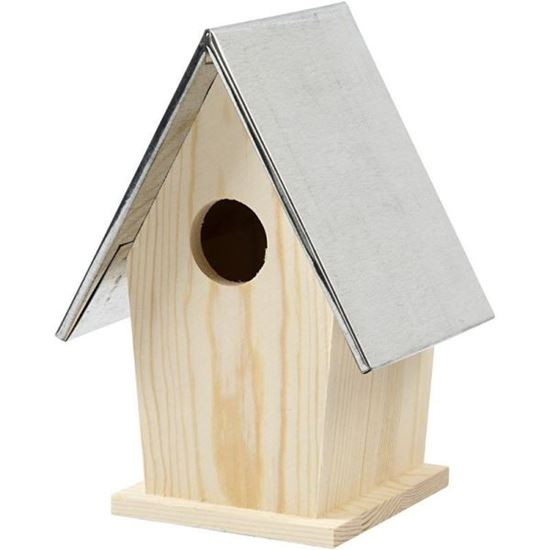 Picture of Wooden Birdbox with Z|inc Roof