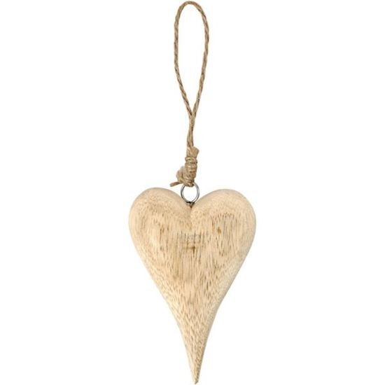 Picture of Wooden Heart with Rustic String 12cm