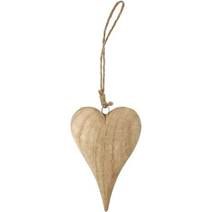 Picture of Wooden Heart with Rustic String 15cm