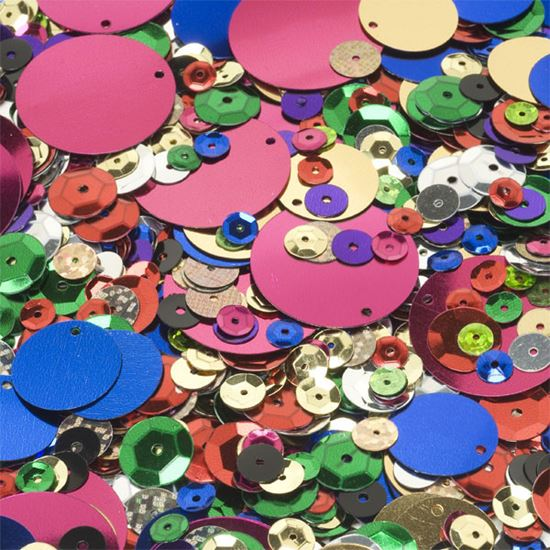 Picture of Sequins Assorted Colours and Sizes (50g)