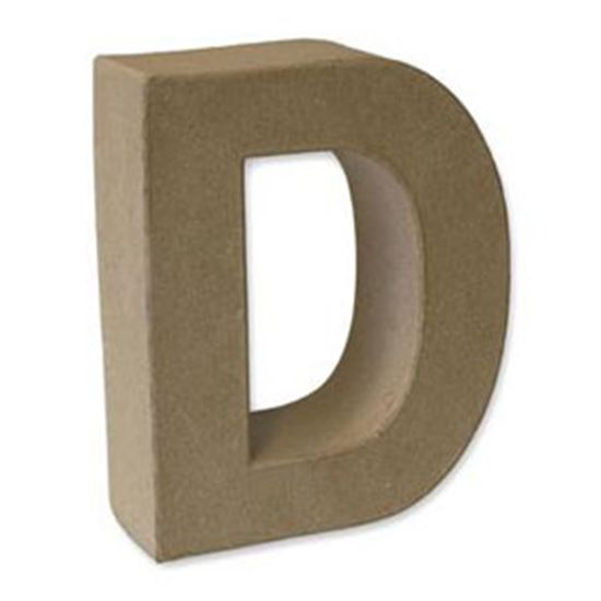 Picture of Paper Mache 3D Letter D 17.5cm.
