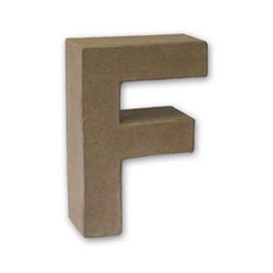 Picture of Paper Mache 3D Letter F 17.5cm.