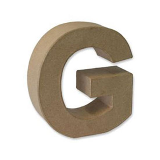 Picture of Paper Mache 3D Letter G 17.5cm.