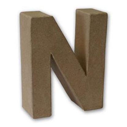 Picture of Paper Mache 3D Letter N 17.5cm.