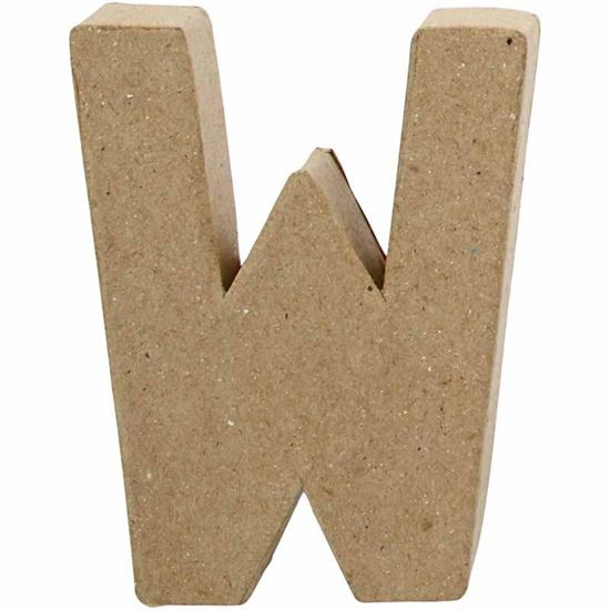 Picture of Paper Mache 10cm Letter W