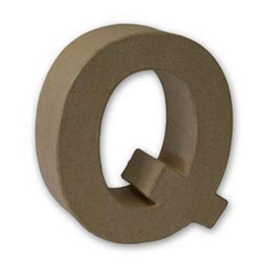 Picture of Paper Mache 3D Letter Q 17.5cm.