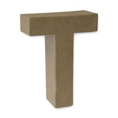 Picture of Paper Mache 3D Letter T 17.5cm.