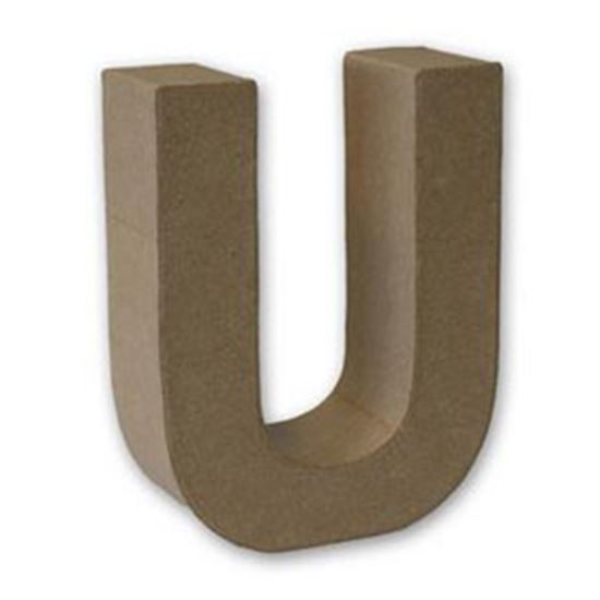 Picture of Paper Mache 3D Letter U 17.5cm.