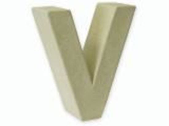 Picture of Paper Mache 3D Letter V 17.5cm.