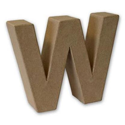 Picture of Paper Mache 3D Letter W 17.5cm.