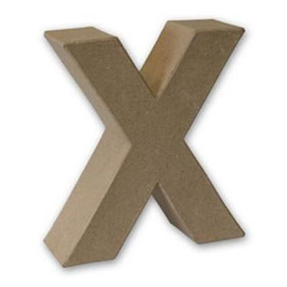 Picture of Paper Mache 3D Letter X 17.5cm.