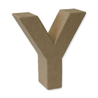 Picture of Paper Mache 3D Letter Y 17.5cm.