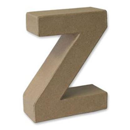 Picture of Paper Mache 3D Letter Z 17.5cm.