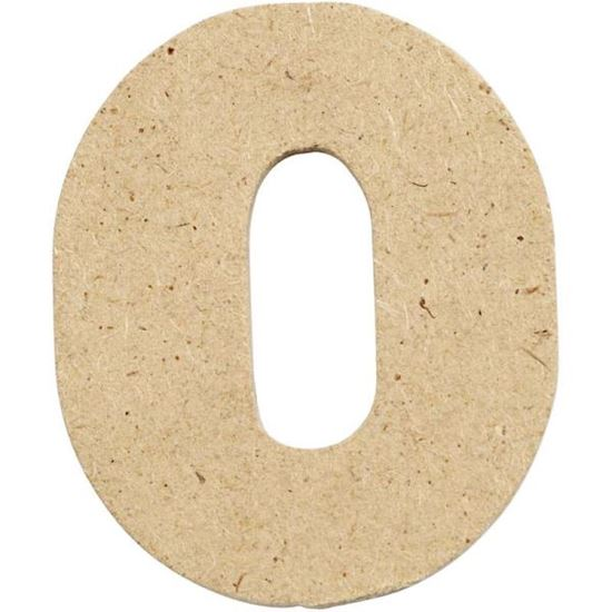 Picture of MDF Small Wooden Number 0.