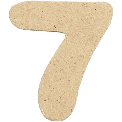 Picture of MDF Small Wooden Number 7.