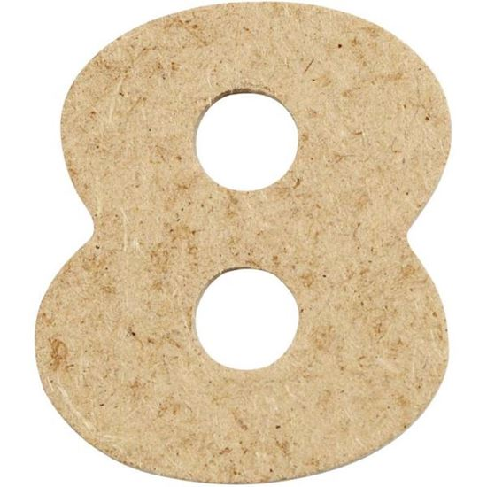 Picture of MDF Small Wooden Number 8.